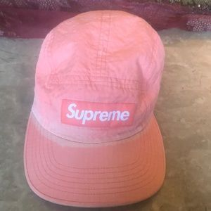Supreme Overdyed Ripstop Camp Cap Pink